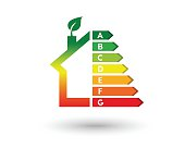 House and energy efficiency concept