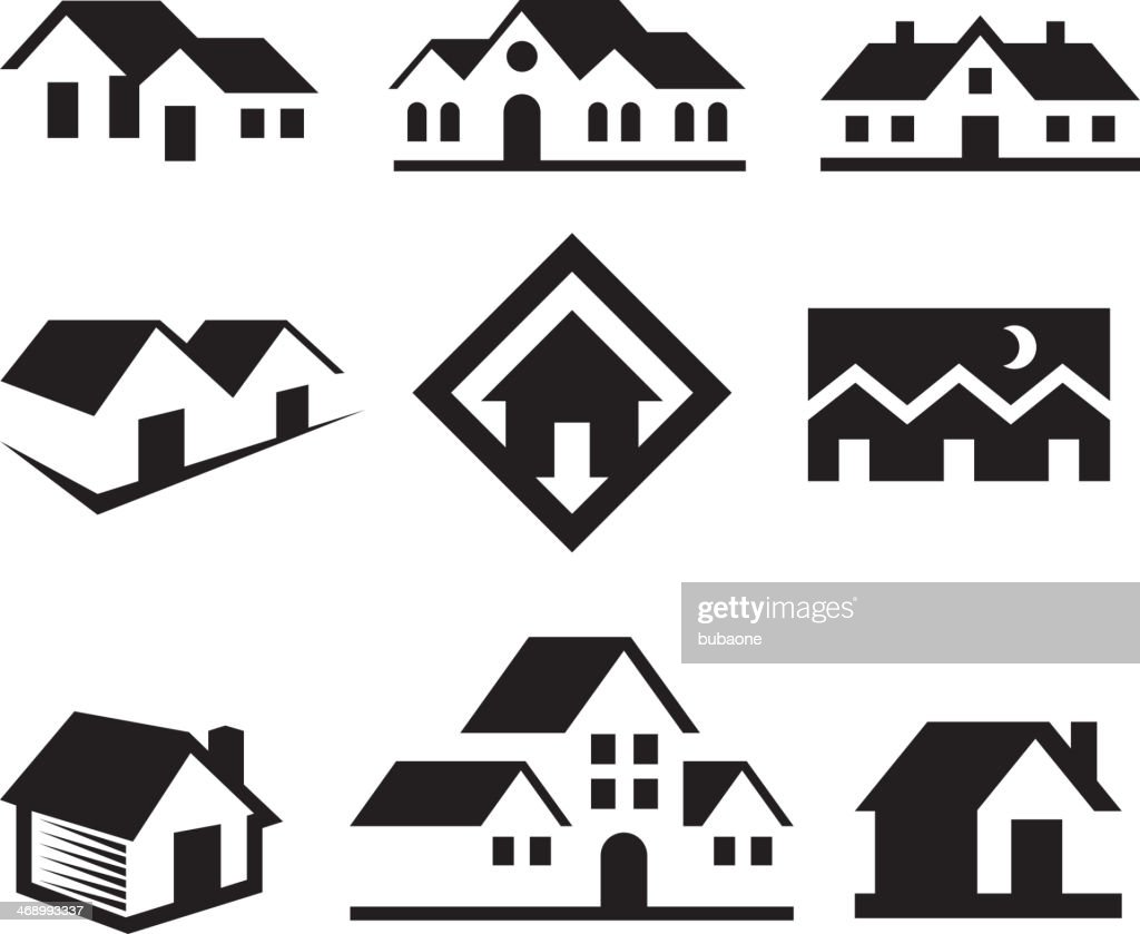 House And Real Estate Black White Royalty Freevector Arts