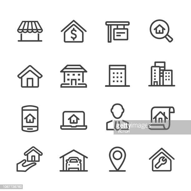 house and real estate icons - acme series - loan stock illustrations