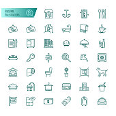 House and real estate icons vector set