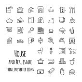 House and real estate vector icons set