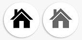 House Black and White Round Icon