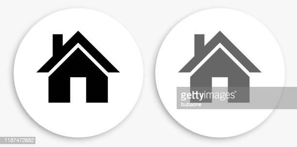 house black and white round icon - {{ collectponotification.cta }} stock illustrations