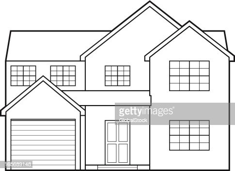 Blueprint house vector art getty images keywords malvernweather Choice Image