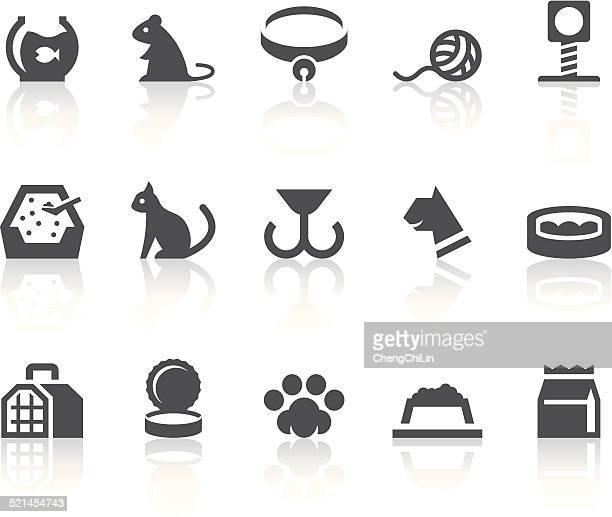 ハウス猫のアイコン/シンプルなブラックシリーズ