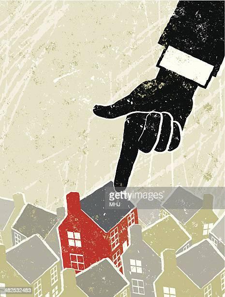 Haus von einem zeigt Hand ausgewählt