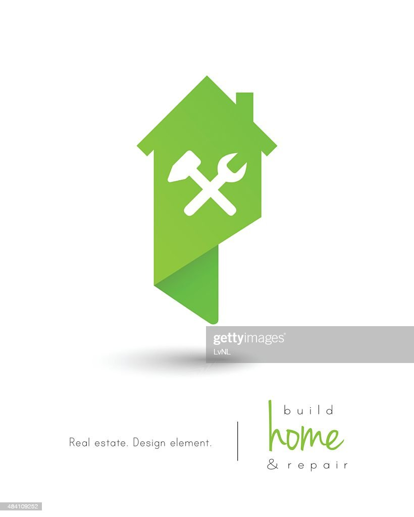 House concept with building and repair tools