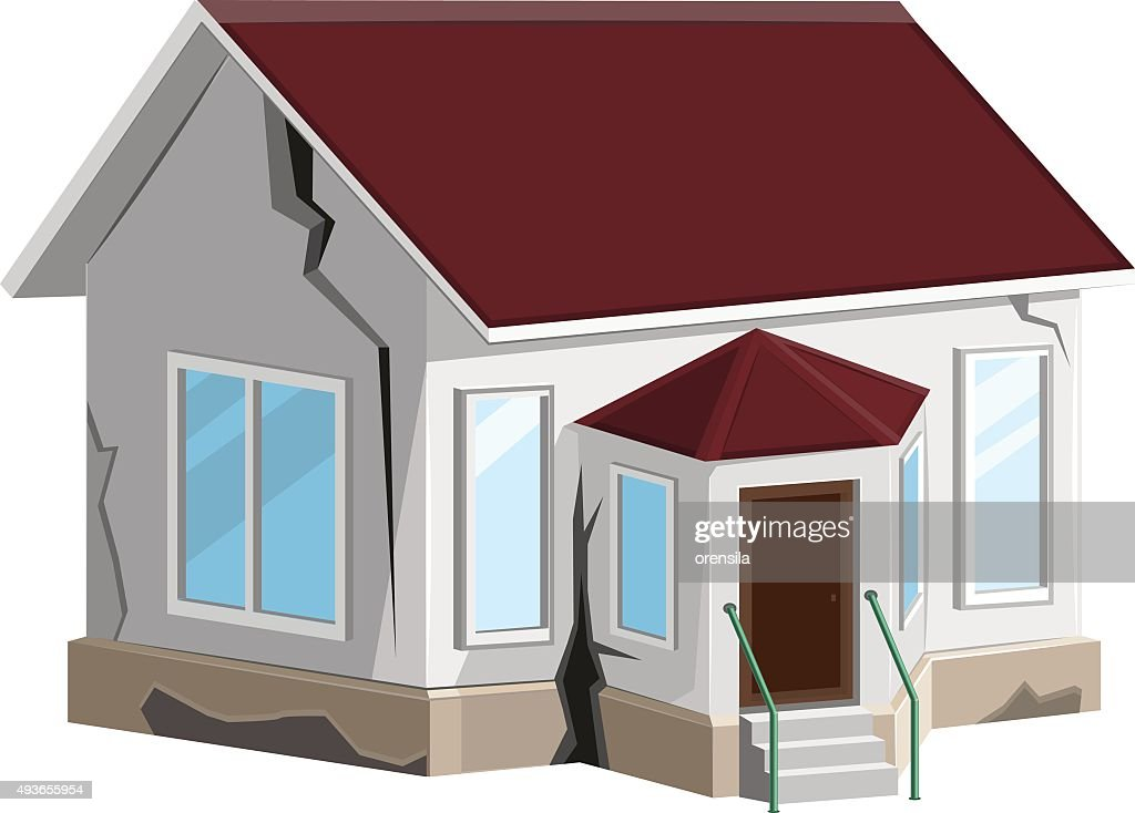 House destroyed. Cracks in walls home. Property insurance. Errors construction