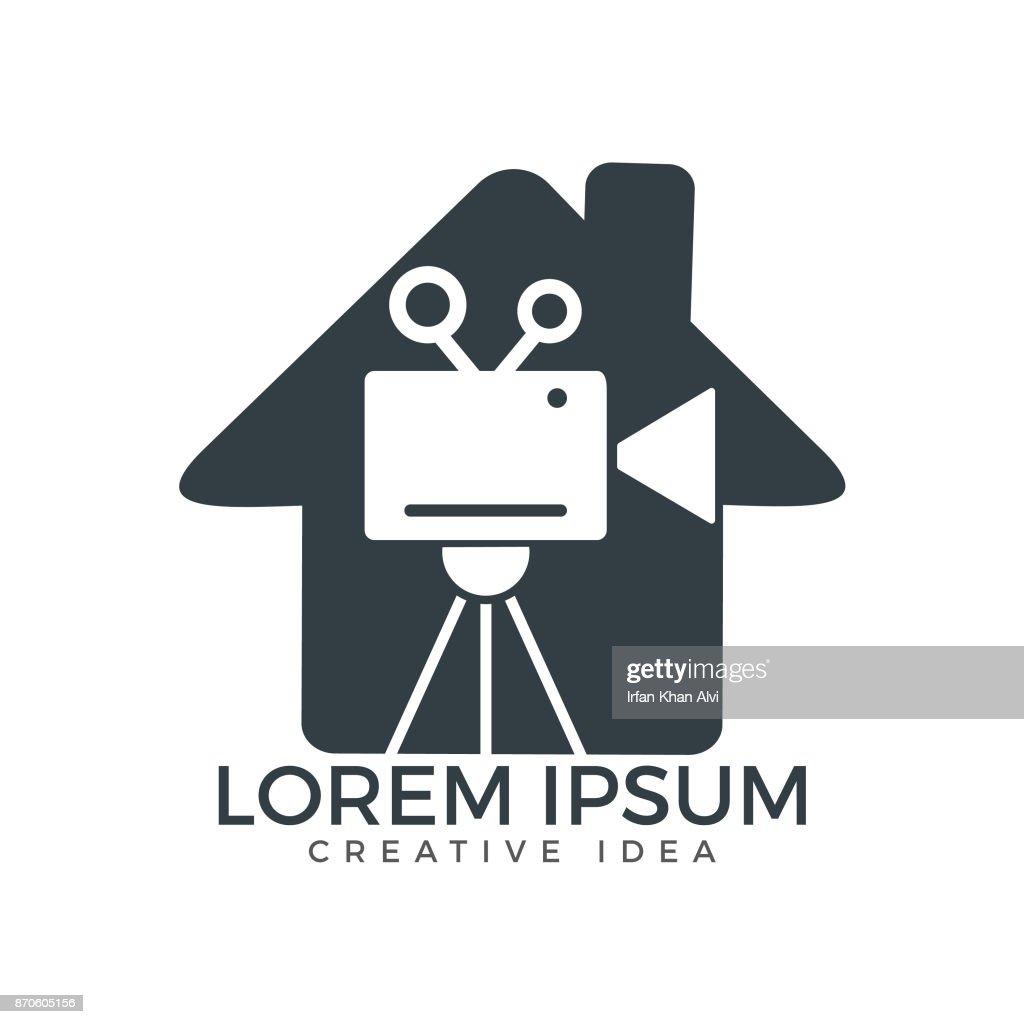 House & film or movie cam vector design.