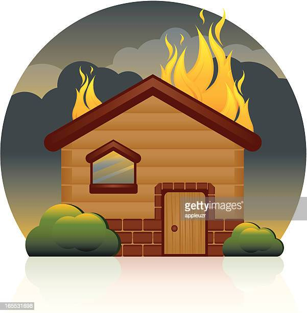 House On Fire Stock Illustrations And Cartoons