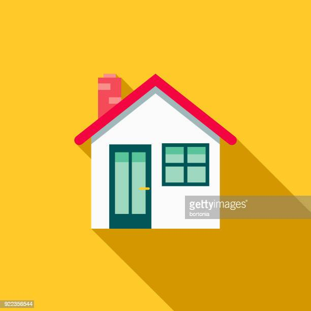 illustrazioni stock, clip art, cartoni animati e icone di tendenza di house flat design home improvement icon - casa