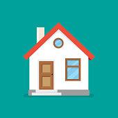 House flat icon. Vector illustration