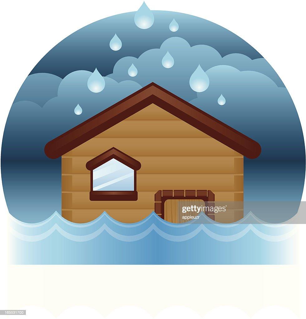 House Flood : stock illustration