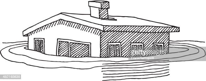 House Flood Waters Drawing Vector Art | Getty Images