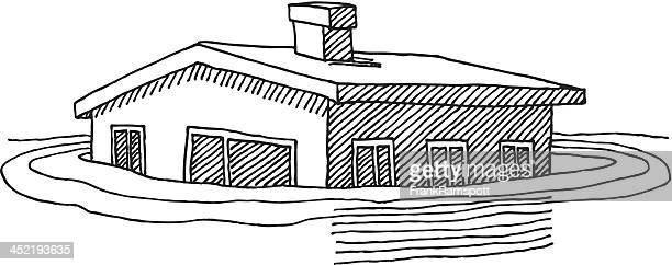 House Flood Waters Drawing