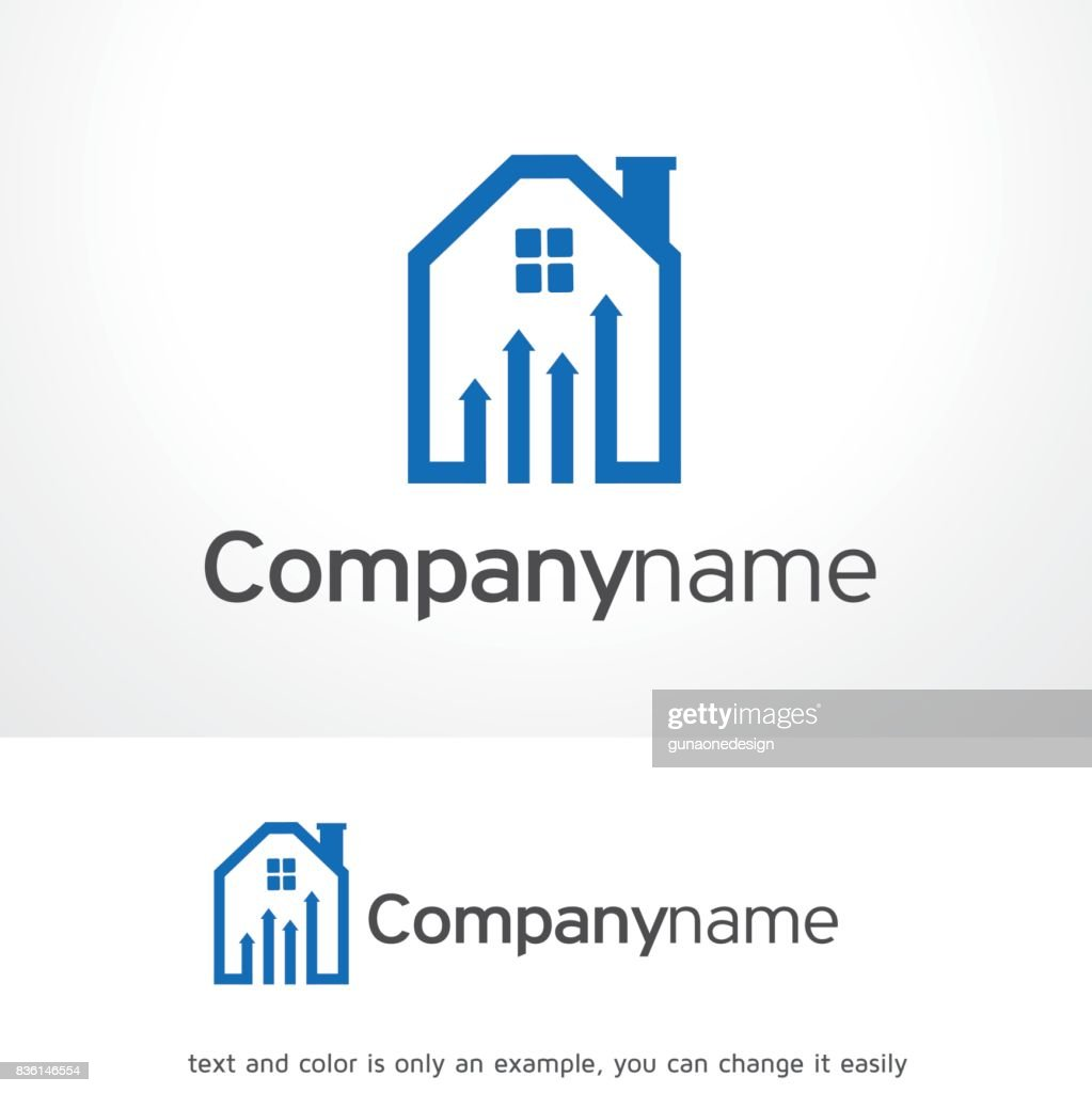 Haus Diagramm Symbol Template Design Vektor Emblem Designkonzept ...