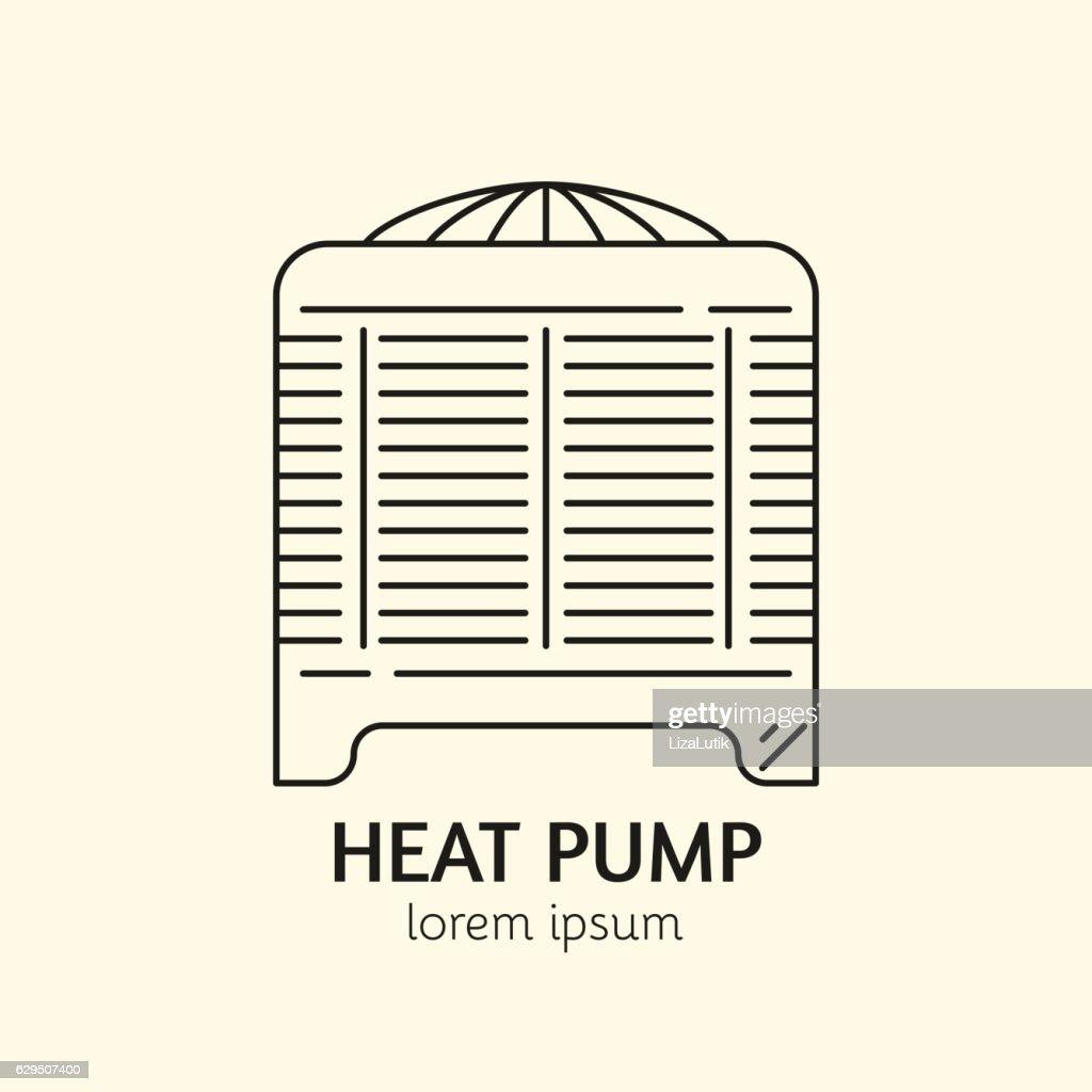 House Heating Logo Template