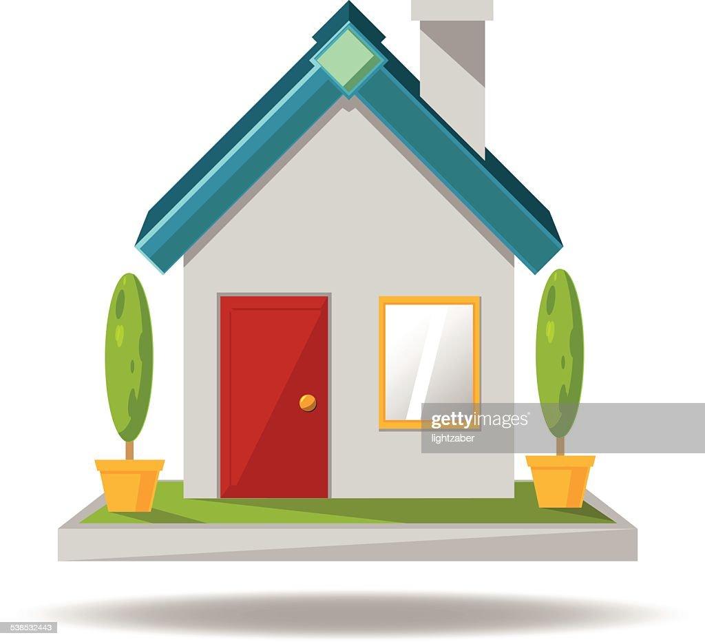 House icon cartoon vector