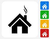 House Icon Flat Graphic Design
