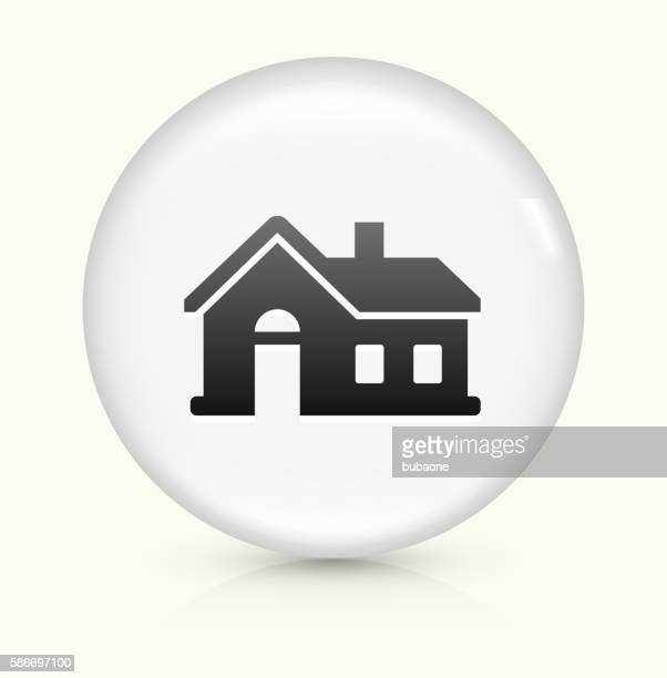 House icon on white round vector button