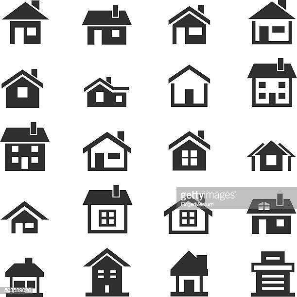 Haus-Symbol set