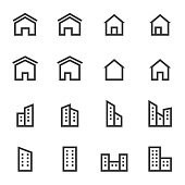 house icon set vector illustration