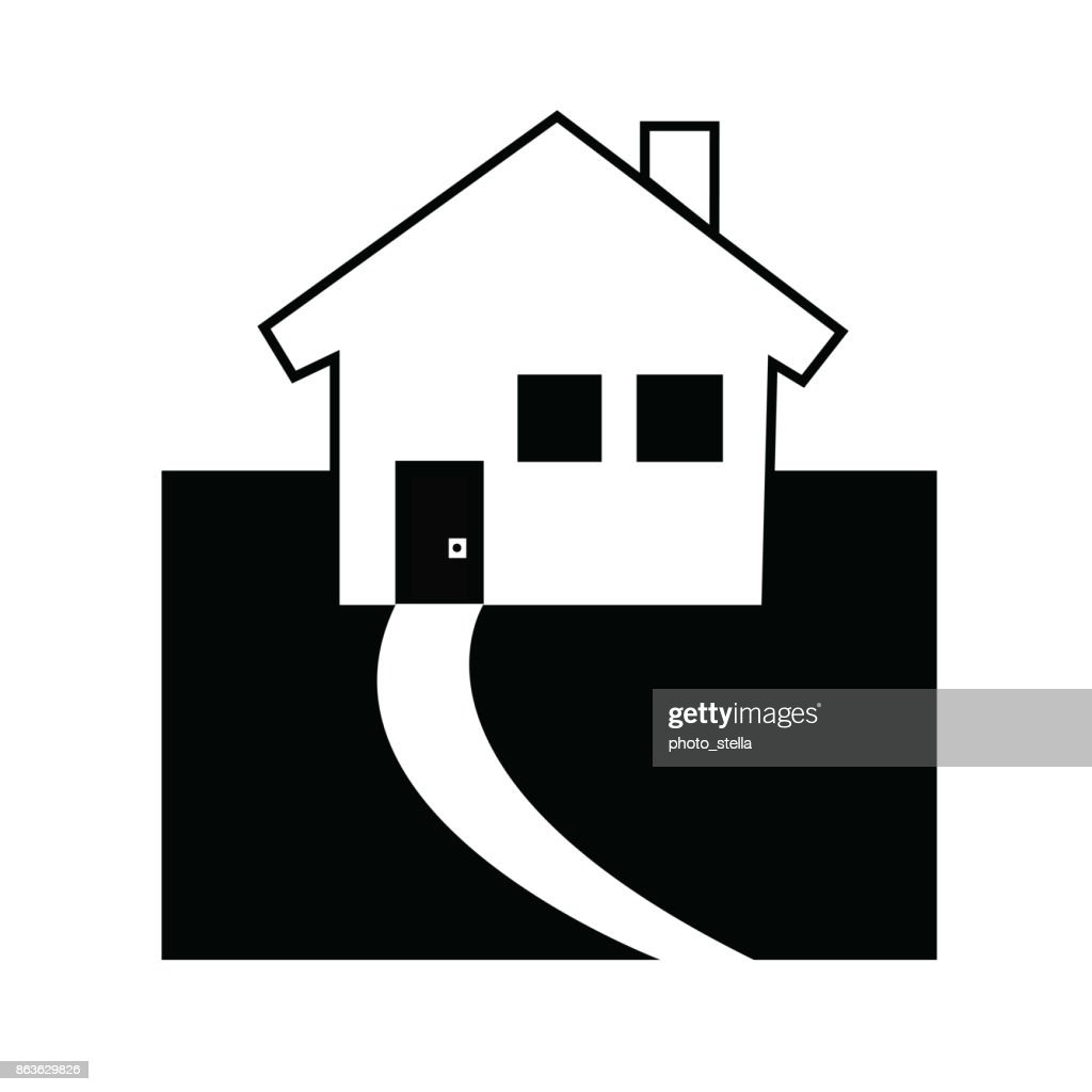 house icon vector - black silhouette house symbol