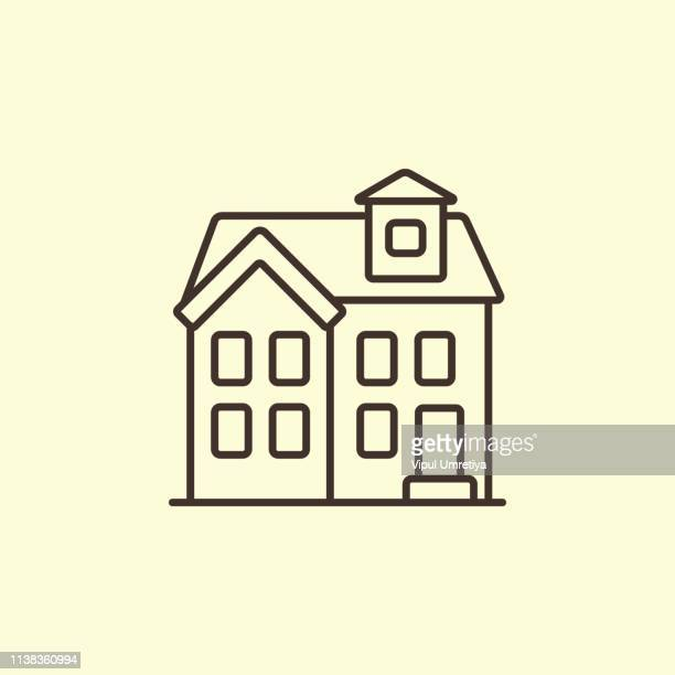 house icon - small stock illustrations, clip art, cartoons, & icons