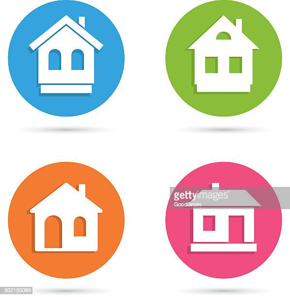 house icon - private property stock illustrations