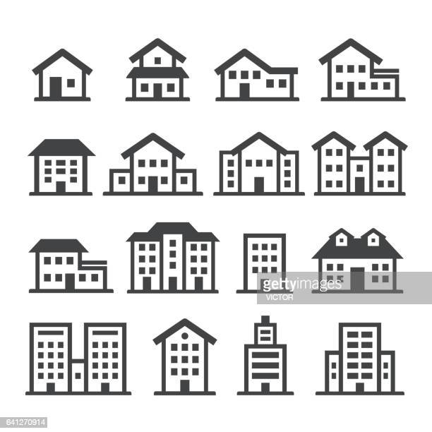 house icons - acme series - skyscraper stock illustrations