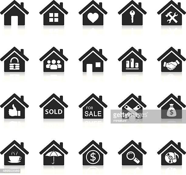 house icons - house stock illustrations