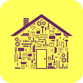 house in the form of tools to repair