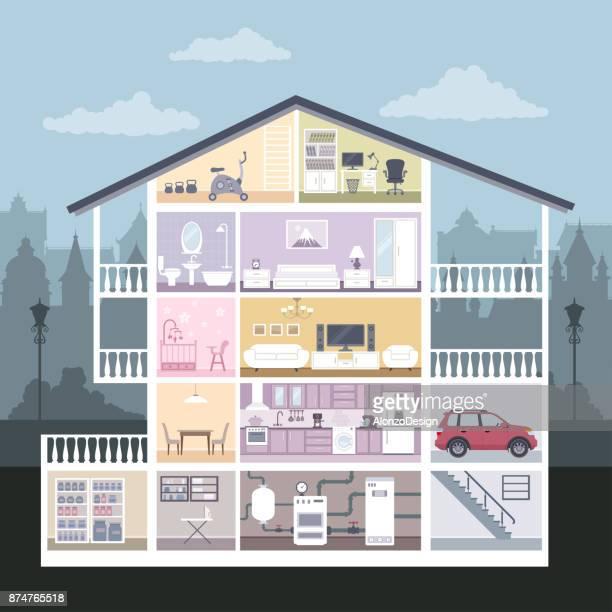 Huis in interieur
