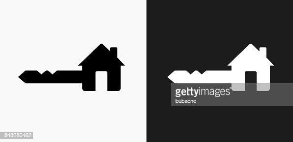 black house key. black house key. interesting key icon on and white vector backgrounds art