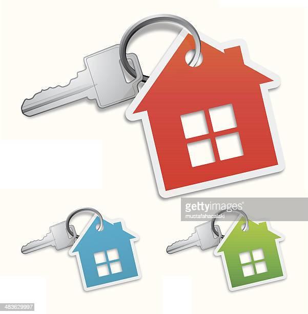 illustrations, cliparts, dessins animés et icônes de clé de maison - vendre