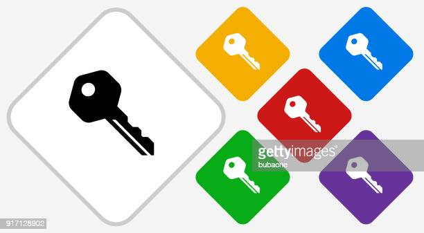 stockillustraties, clipart, cartoons en iconen met huissleutel. - locksmith