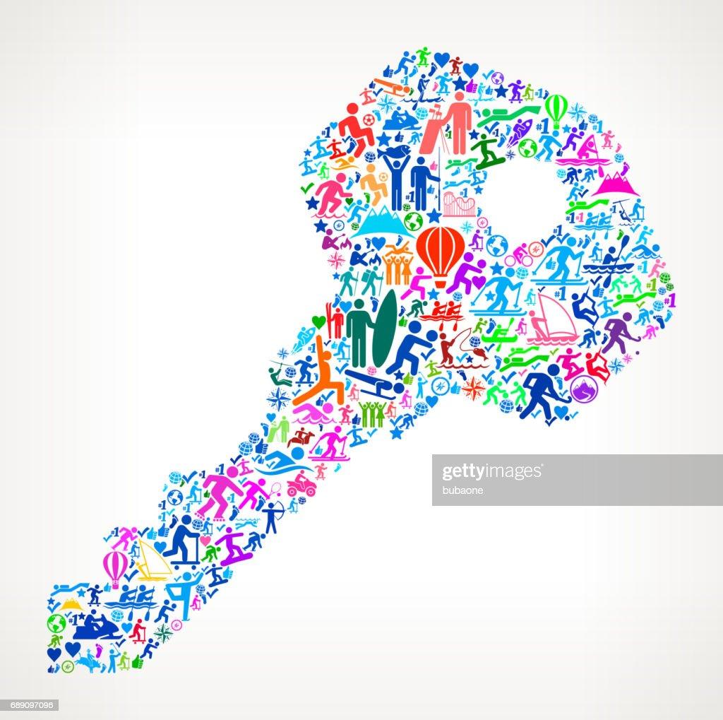 House Keys  Active Lifestyle Vector Icon Pattern : Stock Illustration