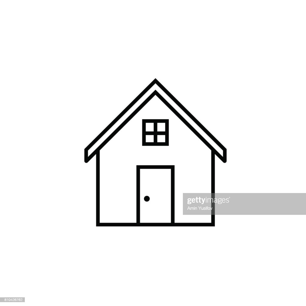 House line icon, home and building sign
