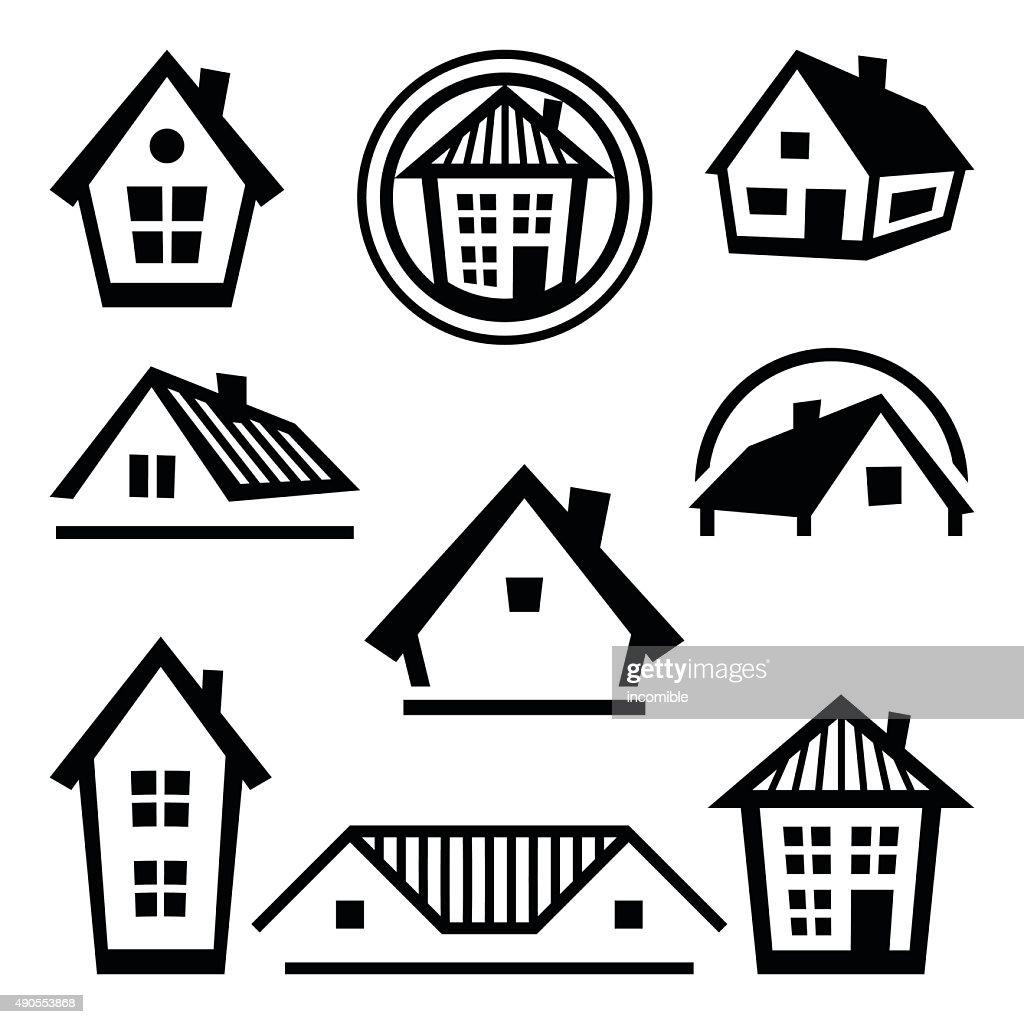 House logo templates. Set of real estate design concepts