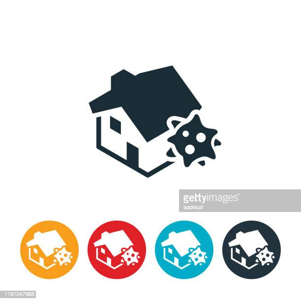 house mold icon - asbestos stock illustrations, clip art, cartoons, & icons