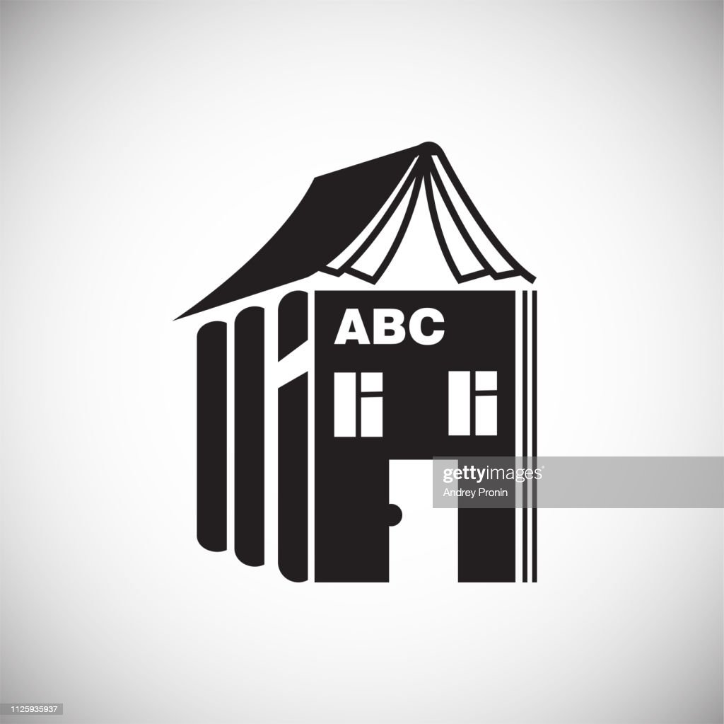 House of alphabet on white background