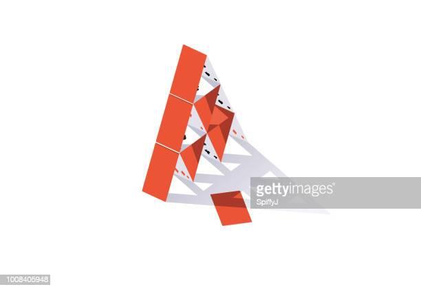 ilustraciones, imágenes clip art, dibujos animados e iconos de stock de castillo de naipes - uncertainty