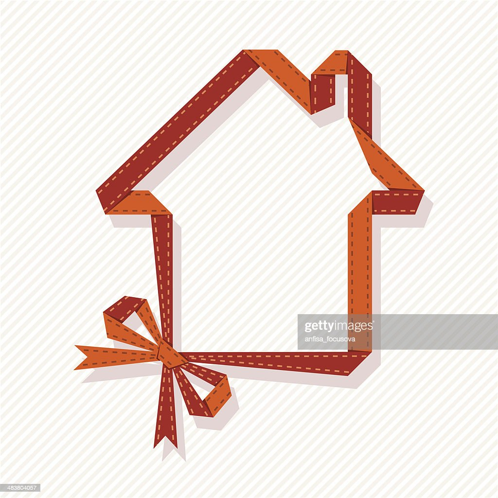 House of ribbon with bow