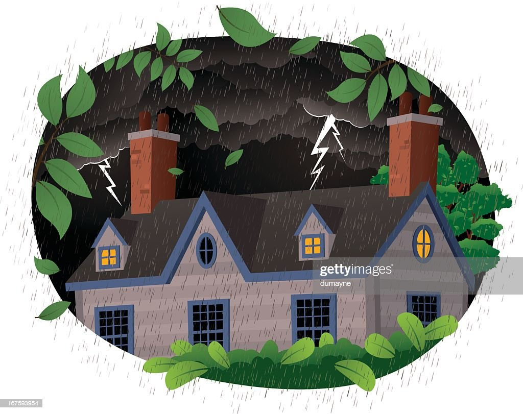 House on a stormy night