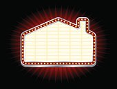 House or Home Shaped Theater Marquee