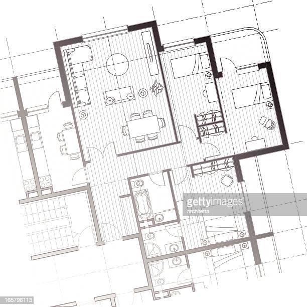 house plan background - architectural feature stock illustrations, clip art, cartoons, & icons