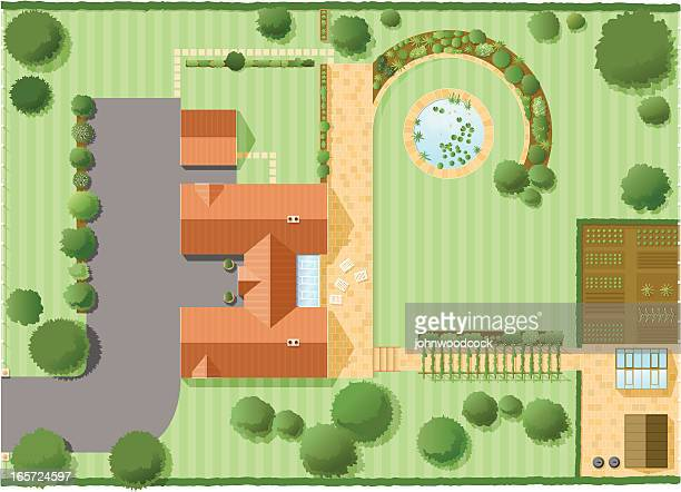 house plan two - architecture stock illustrations, clip art, cartoons, & icons