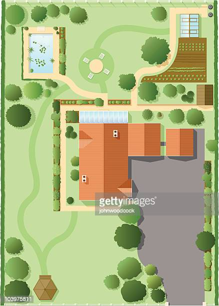 house plan - looking down stock illustrations, clip art, cartoons, & icons