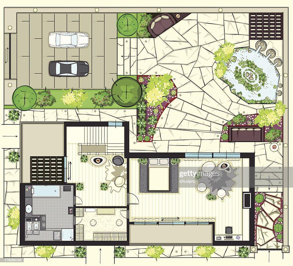House Plan Vector Art