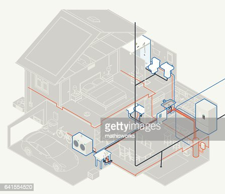 House Plumbing Diagram Vector Art Getty Images